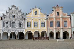 Old town Telc,Czech republic Royalty Free Stock Images