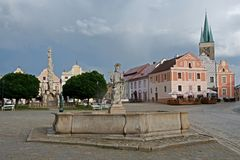 Old town Telc,Czech republic Royalty Free Stock Photos
