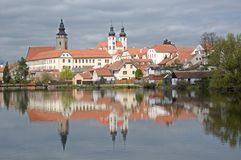 Old town Telc,Czech republic Royalty Free Stock Photography