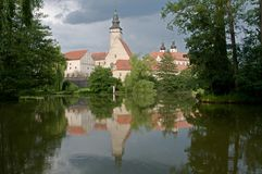 Old town Telc,Czech republic Stock Photo