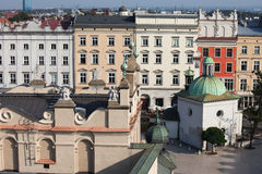 Old Town Tenement Houses in Krakow Royalty Free Stock Photos