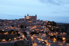Old town of Toledo at night, Spain Royalty Free Stock Images