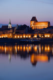Old Town of Torun at Dusk Stock Image