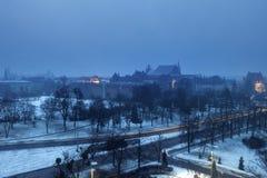 Old Town of Torun at night. Torun, Kuyavian-Pomeranian Voivodeship, Poland Royalty Free Stock Photos