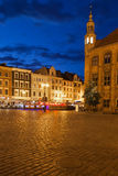 Old Town of Torun by Night in Poland Stock Photography