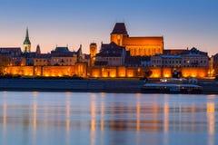 Old town of Torun at night, Poland royalty free stock photos