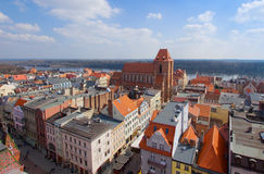 Old town of Torun, Poland. Streets of old town in Torun, Poland royalty free stock photography
