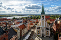 Old town of Torun. In Poland Stock Image