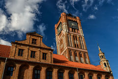 Old town of Torun stock photo