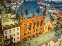 Old town of Torun, Poland. Historical buildings and roofs in Polish medieval town Torun, Poland historical buildings and roofs in Polish medieval town Torun stock image