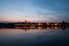 Old Town Of Torun From Vistula River Stock Photography