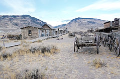 Ghost Town, Cody, Wyoming, United States. The Old Town Trail, in Cody, Wyoming, is a collection of historical buildings and artefacts marking the original area Stock Photo