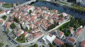 The old town of Trebinje from the air. View of the old town of Trebinje from the air Royalty Free Stock Photo