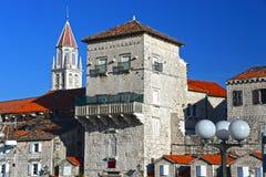 Old town of Trogir in Dalmatia, Croatia on Adriatic coast Stock Images