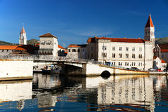 Old town of Trogir in Dalmatia, Croatia on Adriatic coast Royalty Free Stock Image