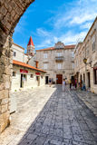 Old town Trogir. Since 1997, the historic centre of Trogir has been included in the UNESCO list of World Heritage Sites for its Venetian architecture Royalty Free Stock Photography