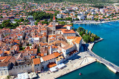 Old town Trogir. Since 1997, the historic centre of Trogir has been included in the UNESCO list of World Heritage Sites[4] for its Venetian architecture Stock Images