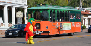 Old Town Trolley. SAN DIEGO CA USA APRIL 8 2015: Old Town Trolley offers one-of-a-kind San Diego tours with 10 stops at more than 100 points of interest. Hop on Royalty Free Stock Photography