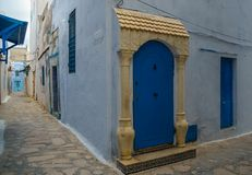 Old town in Tunisia, Hammamet Tunisia royalty free stock photography