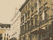 Old town urban city background Royalty Free Stock Images