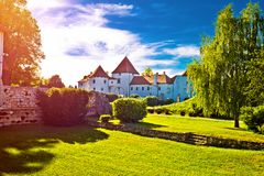 Old town of Varazdin park and landmarks view at sunset Royalty Free Stock Photography
