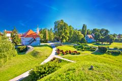 Old town of Varazdin park and landmarks view Royalty Free Stock Photo