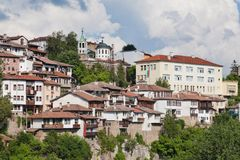 Old town Veliko Tarnovo in Bulgaria Royalty Free Stock Photos