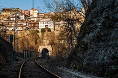 Old town Veliko Tarnovo in Bulgaria Stock Photography