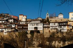 Old town Veliko Tarnovo in Bulgaria Royalty Free Stock Images