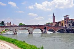 Old town of Verona Royalty Free Stock Photos