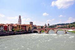 Old town of Verona Stock Images