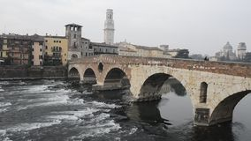 The old town of Verona stock video footage