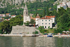 Old town view and Bay of Kotor, Montenegro. Stock Image