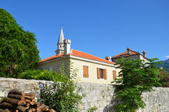 Old town. View in Budva, Montenegro stock images