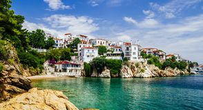 Free Old Town View Of Skiathos Island, Sporades, Greece Royalty Free Stock Images - 166374459