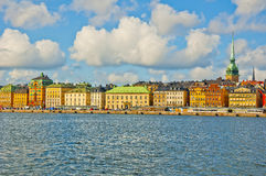 Old Town View, Stockholm, Sweden. Stockholm city view taken against a blue cloudy sky Royalty Free Stock Photo