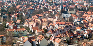 Old town view from the tower Stock Photography