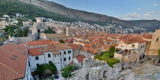 Old town view from the walls. Dubrovnik. Croatia Royalty Free Stock Photo