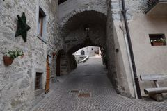 Old town village Rango Trentino, selection one of the most beautiful village in italy Royalty Free Stock Image