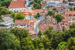 The Old Town of Vilnius, Lithuania Stock Images