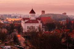 Old Town in Vilnius, Lithuania at night Stock Photography