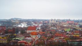 Old Town Vilnius, Lithuania panoramic time-lapse stock video