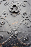 Old town vintage metal door Stock Photography