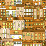 Old town vintage seamless pattern background Stock Photography