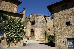 Old town in Volpaia (Tuscany, Italy) Royalty Free Stock Images