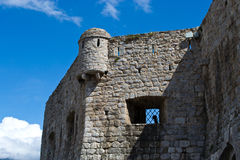 Old town walls. Budva old town walls by the sea Stock Photography