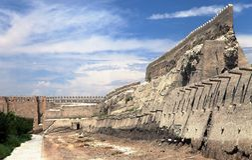 Old town walls - Bukhara - Uzbekistan stock photography