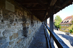 The Old Town Walls in Rothenburg ob der tauber stock image
