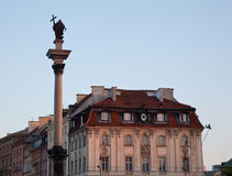 Old Town of Warsaw Stock Photography