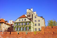 Old Town in Warsaw Stock Images